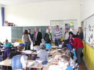 Unterrichtsbesuch an der RHS - Visita en una clase del Instituto RHS